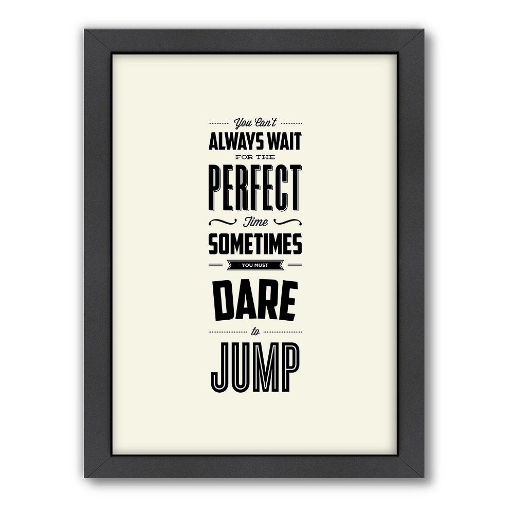 Americanflat Motivated Type ''Dare to Jump'' Framed Wall Art