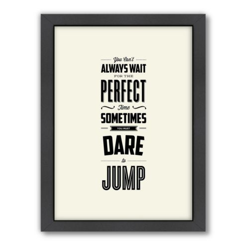 "Americanflat Motivated Type ""Dare to Jump"" Framed Wall Art"