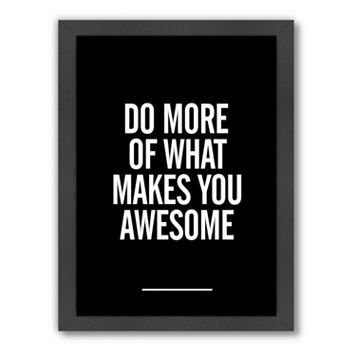 Americanflat Motivated Type ''Do More'' Framed Wall Art