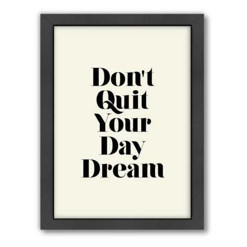 Americanflat Motivated Type ''Don't Quit'' Framed Wall Art
