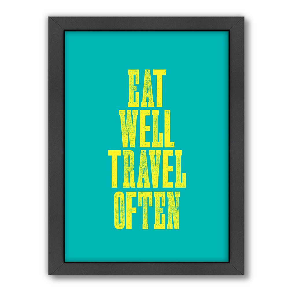 Americanflat Motivated Type ''Eat Well'' Framed Wall Art