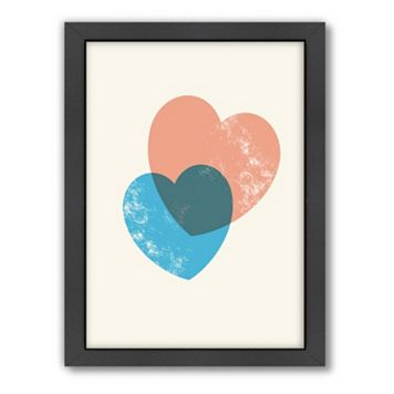 Americanflat Motivated Type Hearts Combine Framed Wall Art