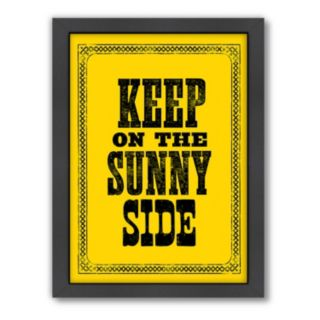 Americanflat Motivated Type ''Sunny Side'' Framed Wall Art