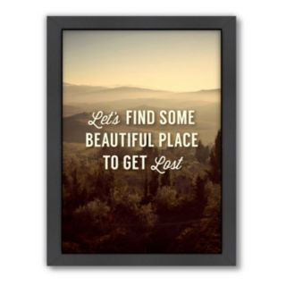Americanflat Motivated Type ''Beautiful Place'' Framed Wall Art
