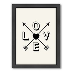 Americanflat Motivated Type ''Love'' Arrow Framed Wall Art