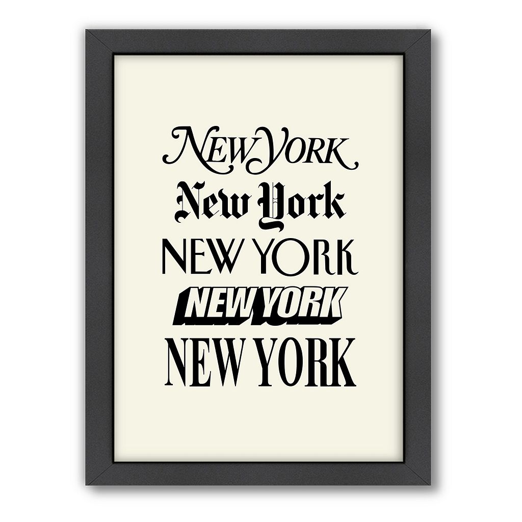 Americanflat Motivated Type New York Typography Framed Wall Art