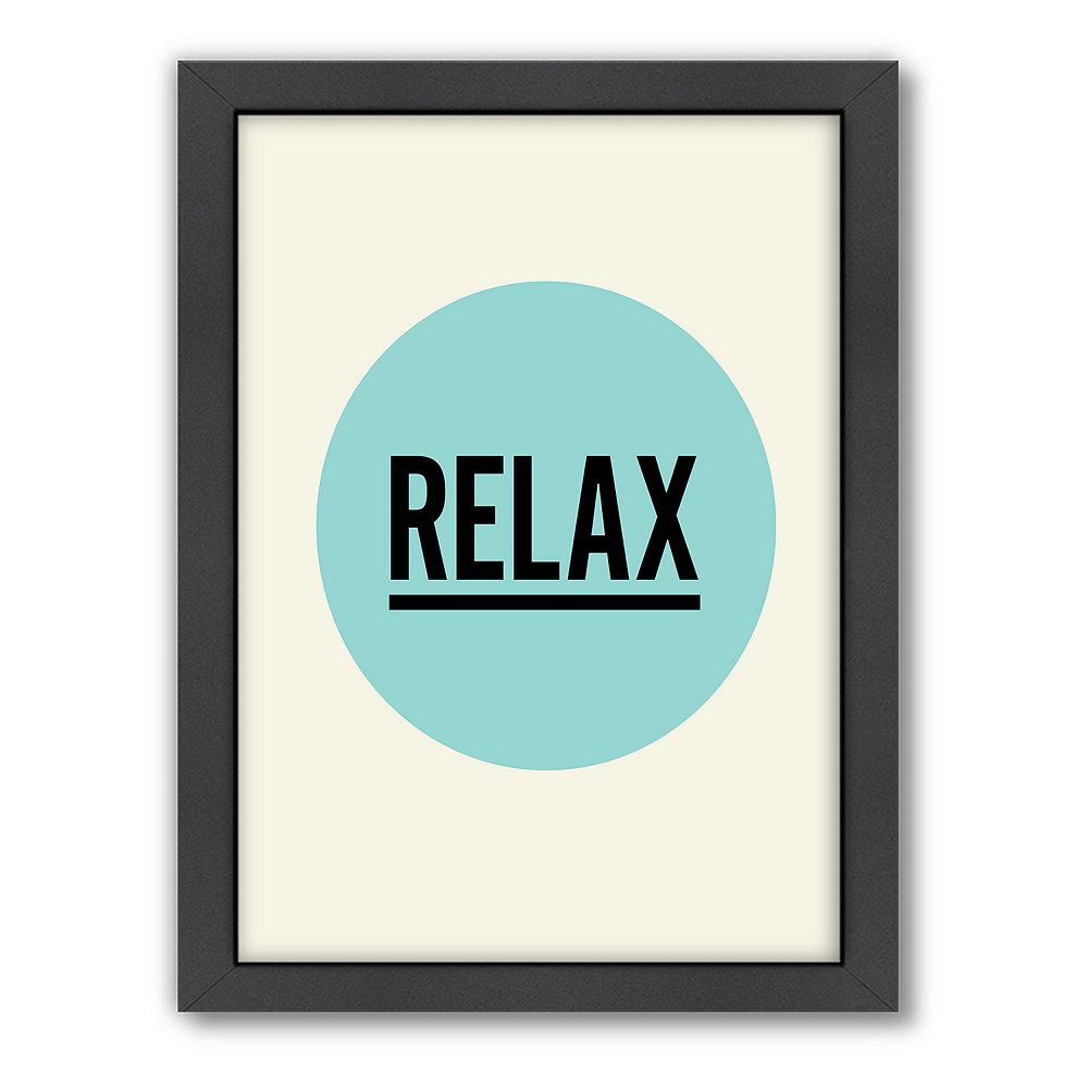 Americanflat Motivated Type ''Relax'' Typography Framed Wall Art
