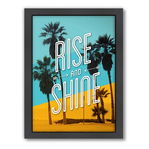 Americanflat Motivated Type ''Rise & Shine'' Typography Framed Wall Art