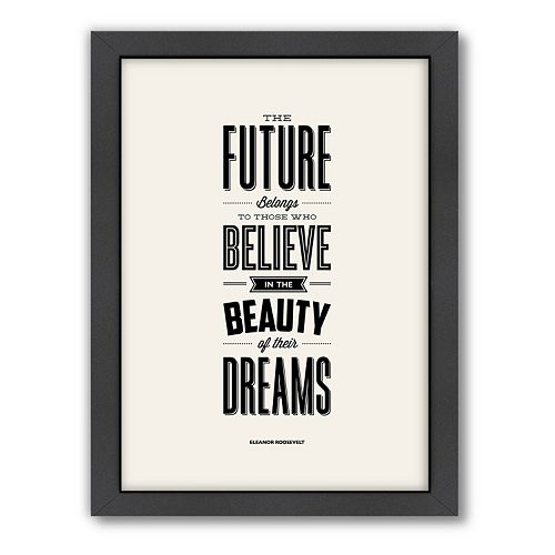 Americanflat Motivated Type ''Future'' Typography Framed Wall Art