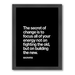 Americanflat Motivated Type ''Secret of Change'' Typography Framed Wall Art