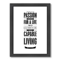 Americanflat Motivated Type ''Passion'' Typography Framed Wall Art