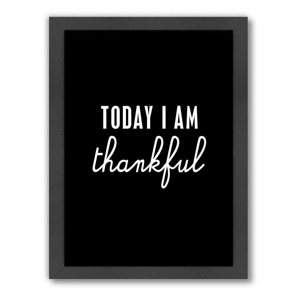 Americanflat Motivated Type ''Thankful'' Typography Framed Wall Art