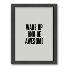 Americanflat Motivated Type ''Wake Up'' Typography Framed Wall Art