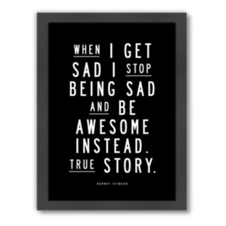 Americanflat Motivated Type Barney Stinson Typography Framed Wall Art