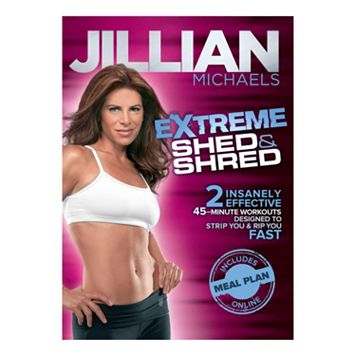 Jillian Michaels Extreme Shed & Shred DVD by Gaiam