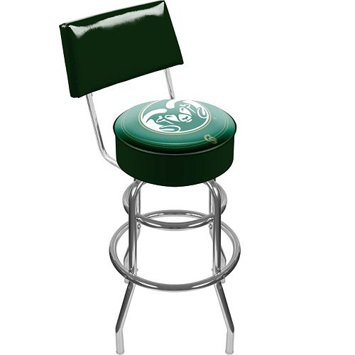 Colorado State Rams Padded Swivel Bar Stool with Back