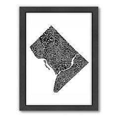 Americanflat Joe Brewton Washington D.C. Typography Framed Wall Art