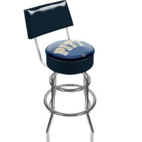 Pitt Panthers Padded Swivel Bar Stool with Back