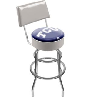 TCU Horned Frogs Padded Swivel Bar Stool with Back