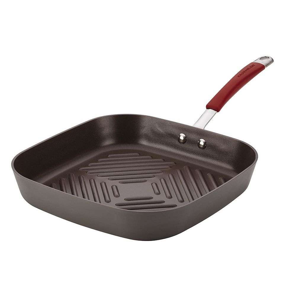 Rachael Ray Cucina 11-in. Nonstick Hard-Anodized Square Grill Pan
