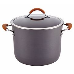 Rachael Ray Cucina 10-qt. Hard-Anodized Nonstick Covered Stockpot