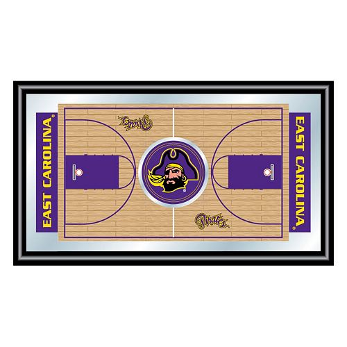 East Carolina Pirates Framed Basketball Court Wall Art