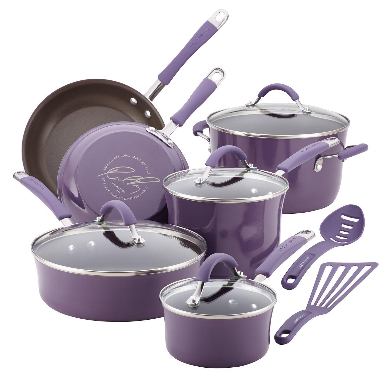 Rachael Ray Cucina 12 Pc. Hard Enamel Nonstick Cookware Set