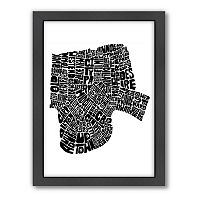 Americanflat Joe Brewton New Orleans, Louisiana Typography Framed Wall Art
