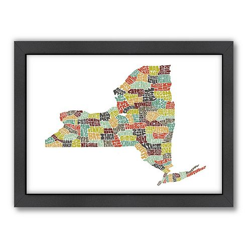 Americanflat Joe Brewton New York Typography Framed Wall Art