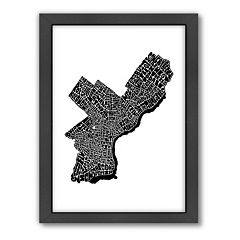 Americanflat Joe Brewton Philadelphia, Pennsylvania Black & White Typography Framed Wall Art