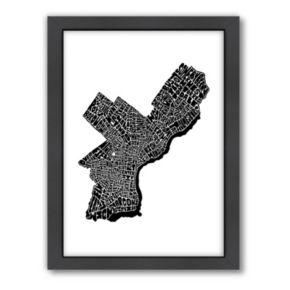 Americanflat Joe Brewton Philadelphia, Pennsylvania Black & White Typography Framed Wall Art