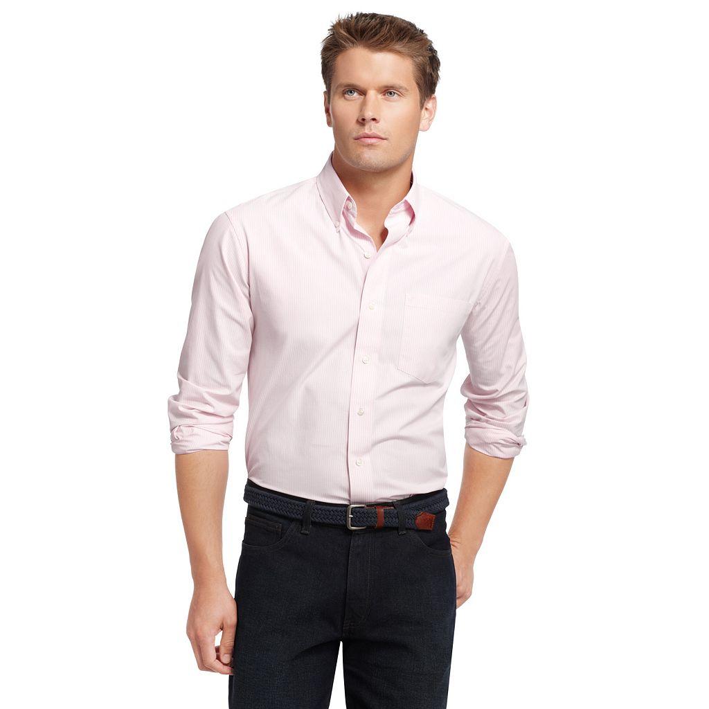 Big & Tall IZOD Checked Casual Button-Down Shirt