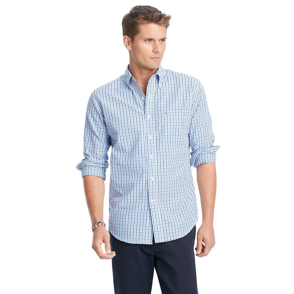 Big & Tall IZOD Essential Tattersal Button-Down Shirt