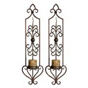 Privas 2 pc Candle Wall Sconce Set