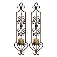 Privas 2-piece Candle Wall Sconce Set