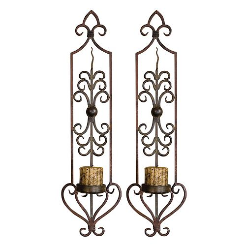 Uttermost Privas 2-piece Candle Wall Sconce Set