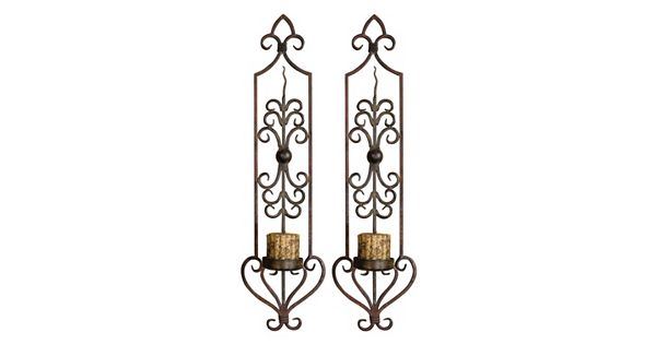 Candle Wall Sconces Kohls : Privas 2-piece Candle Wall Sconce Set