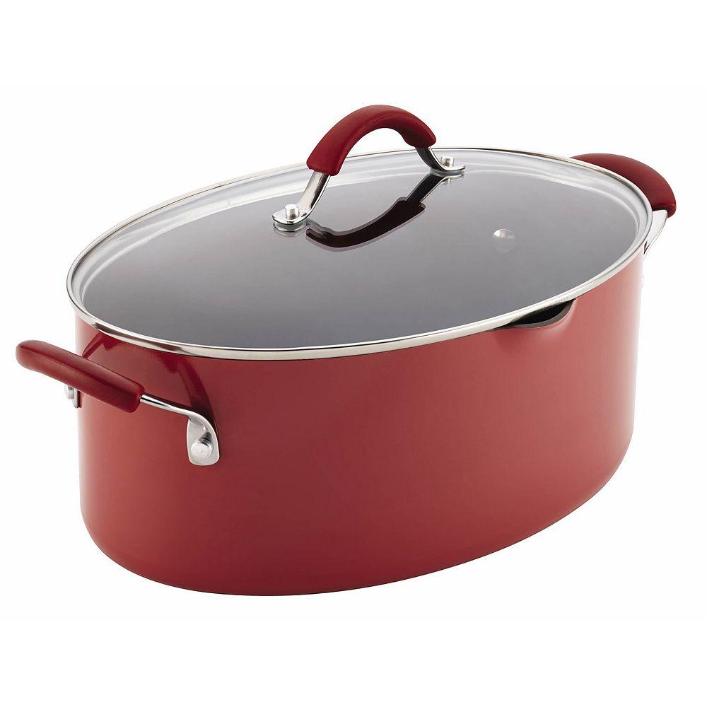 Rachael Ray® Cucina 8-qt. Hard-Enamel Oval Pasta Pot