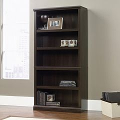 Sauder Contemporary Sleek 5-Shelf Bookcase