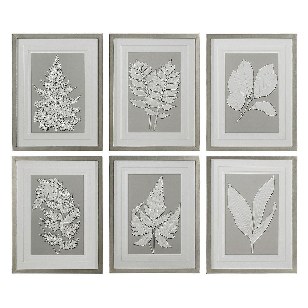 Uttermost Moonlight Ferns 6-piece Framed Wall Art Set