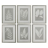 Moonlight Ferns 6-piece Framed Wall Art Set