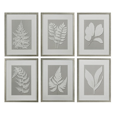 Uttermost Moonlight Ferns 6-piece Framed Wall Art Set
