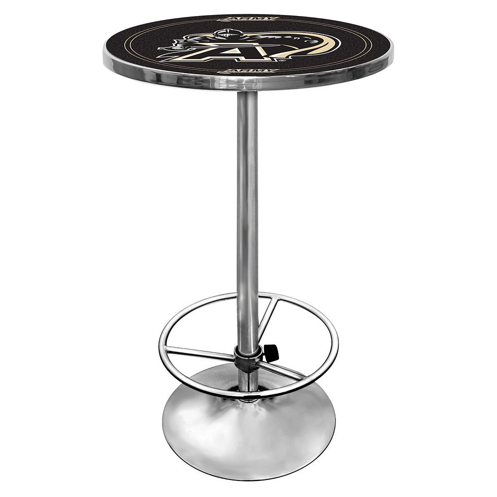 Army Black Knights Chrome Pub Table
