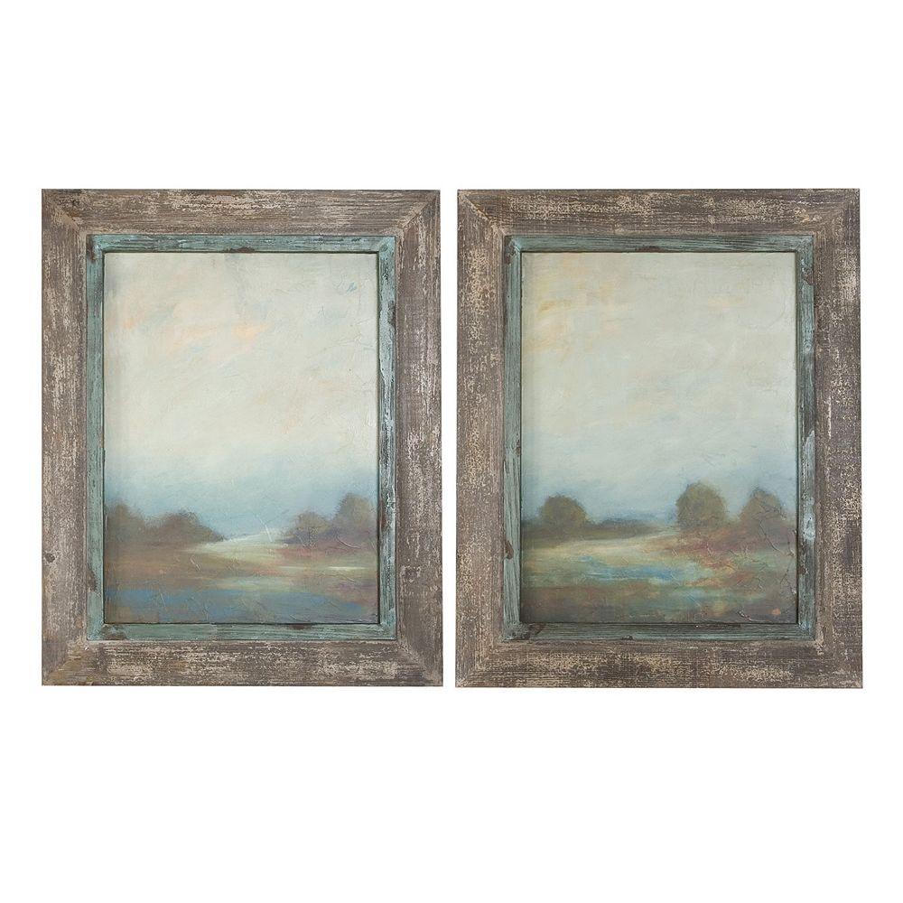 Uttermost Morning Vistas 2-piece Framed Wall Art Set