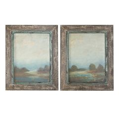 Uttermost Morning Vistas 2-piece Framed Wall Art Set