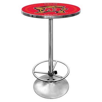 Maryland Terrapins Chrome Pub Table