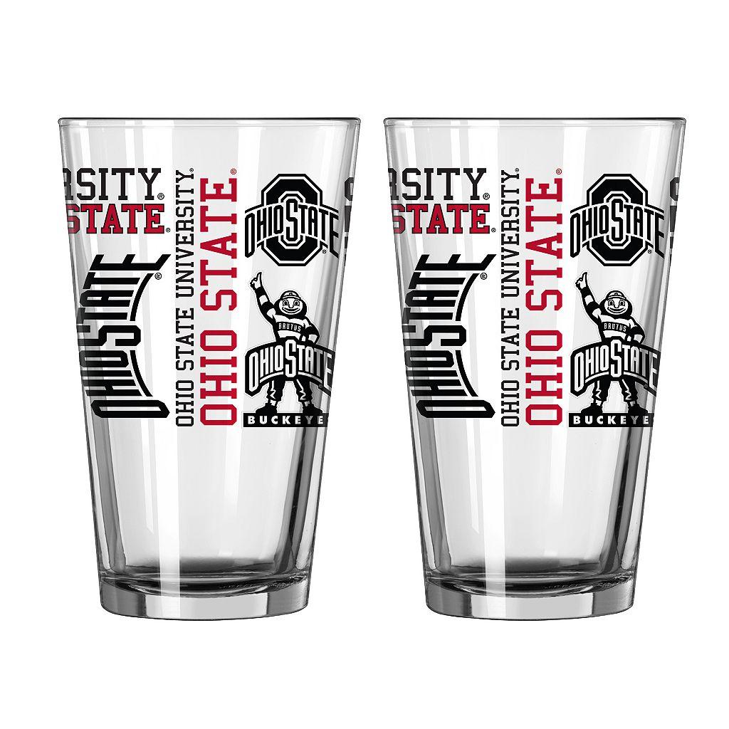 Boelter Ohio State Buckeyes Spirit Pint Glass Set