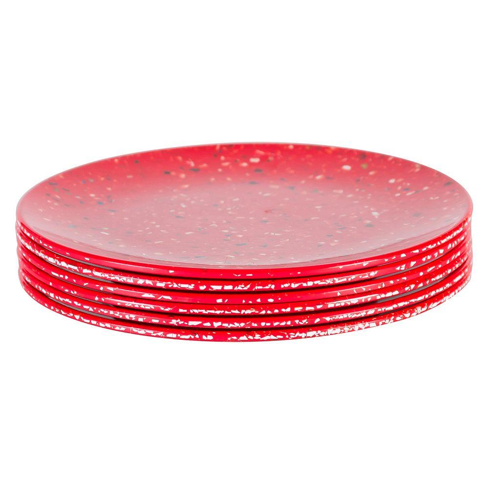 Zak Designs Confetti 6-pc. Melamine Salad Plate Set