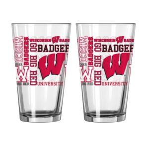 Boelter Wisconsin Badgers Spirit Pint Glass Set
