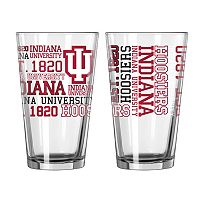 Indiana Hoosiers 2-piece Pint Glass Set
